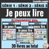 French Emergent Reader Mini Books - Je peux lire - 30 LIVRETS -  MEGA BUNDLE