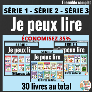 French Emergent Reader Mini Books - Je peux lire - 30 LIVRETS -  MEGA BUNDLE