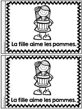 Je peux lire - Les pommes  -  French Emergent Readers