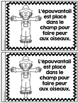 Je peux lire SÉRIE 2 - L'AUTOMNE - French Emergent Reader Mini book