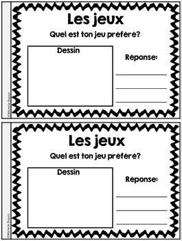 Je peux lire SÉRIE 2 - Les jeux - French Emergent Reader Mini book