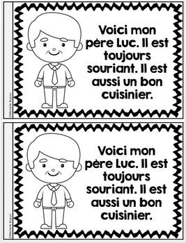 Je peux lire SÉRIE 3 - LA FAMILLE - French Emergent Reader Mini book