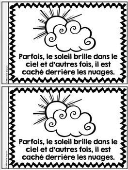 Je peux lire SÉRIE 3 - LA MÉTÉO - French Emergent Reader Mini book