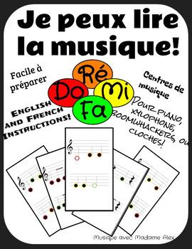 Je peux lire la musique (I can read music) Fa