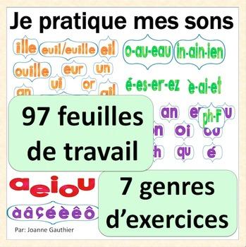 Je pratique mes sons français - Word Work for French phonics