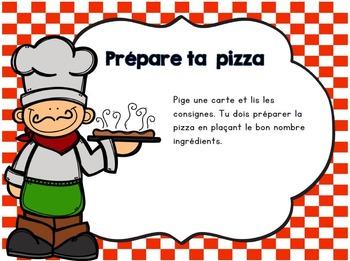 Je prépare ma pizza