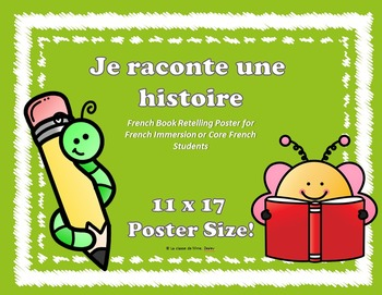 Je raconte une histoire - French Book Retelling Poster (11x17)