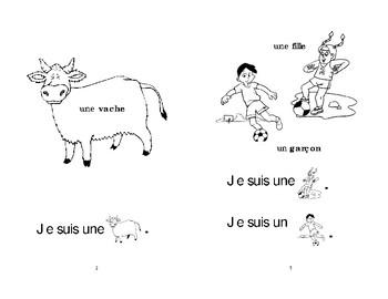 1) Je suis- livret de lecture   ENFANT C1  M et 1ère
