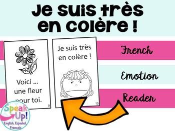 Je suis très en colère  ~ French Emotions Reader {en français}