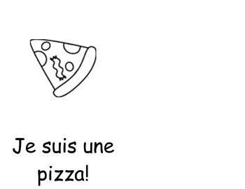 Je suis une pizza colouring book
