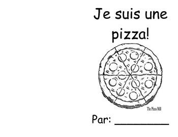 Je suis une pizza colouring book
