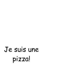 Je suis une pizza colouring book - no images