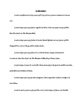 Je suis unique (Extended French)
