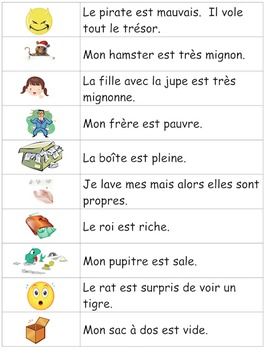 Je travaille mon vocabulaire: Les adjectifs 2 {French Adjectives Practice 2}