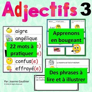Je travaille mon vocabulaire: Les adjectifs 3 {French Adje