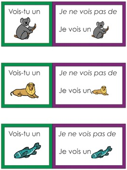 Je travaille mon vocabulaire: Les animaux {French Vocabulary Practice}