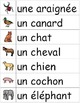Je travaille mon vocabulaire: Les animaux {French Vocabulary Practice}