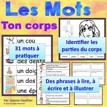Les parties du corps: Je pratique mon vocabulaire {French