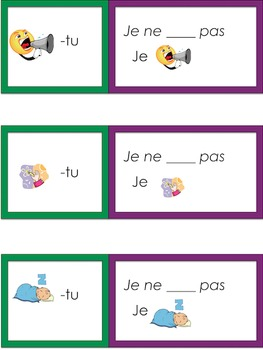 Je travaille mon vocabulaire: Les verbes 1 {French Verb Practice}