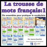 Je travaille mon vocabulaire: trousse 1 {French Vocabulary Bundle 1}