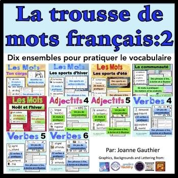 Je travaille mon vocabulaire: trousse 2 {French Vocabulary
