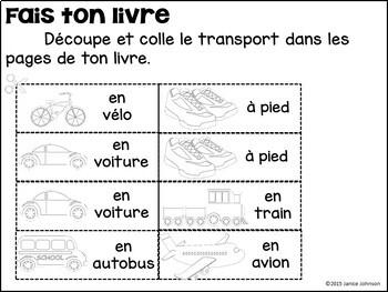 Je vais en train French Reader & Build-A-Book for transportation