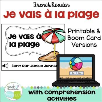 Je vais à la plage ~ French Beach Simple Reader {en français}