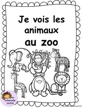 Je vois les animaux au zoo