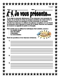 Je vous presente!/ Introducing...you!
