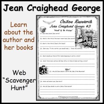 Jean C. George Website Research -Fun & Printable Comprehension Package + Video