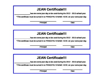 Jean Certificate - Motivation and Staff Morale