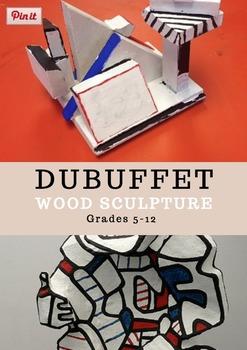 Jean DuBuffet Wood Sculpture
