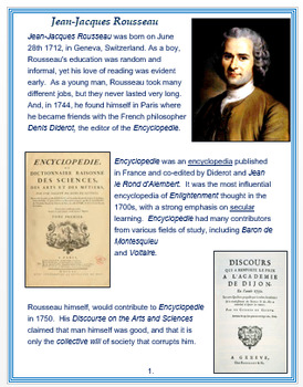 Jean-Jacques Rousseau + Assessment