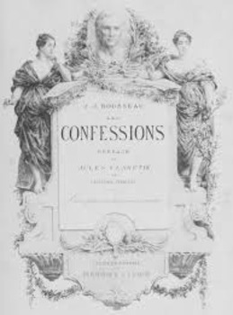 Rousseau's Confessions French passe compose imparfait Reading and Writing lesson