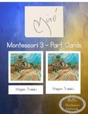 Jean Miro - 3 Part Cards - Art Masterpieces