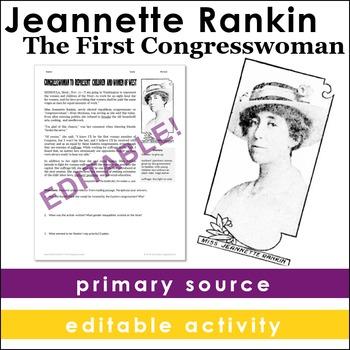 Jeannette Rankin: First Congresswoman