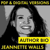 Jeannette Walls Author Study Worksheet, Easy Biography Activity, CCSS