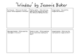 Jeannie Baker 'Window' comprehension activity
