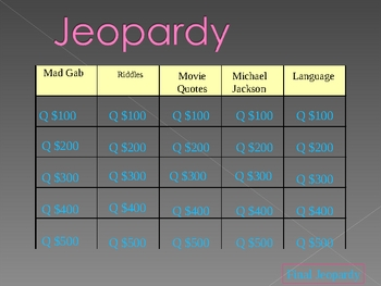 Jeapordy Game 5