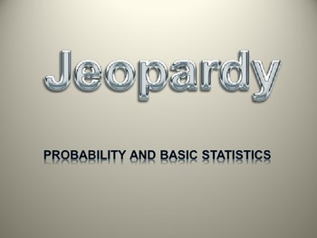 Jeapordy Review Game for Probability