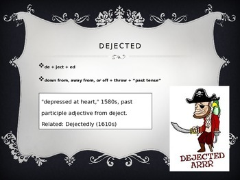 Ject-Throw Latin Root Powerpoint