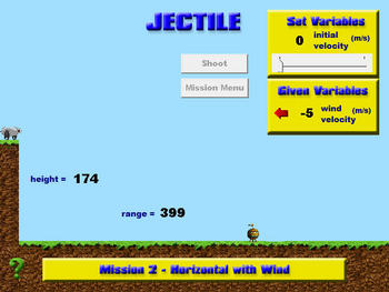 Physics - Projectile Motion - Jectile Game & Materials - Software & Handouts