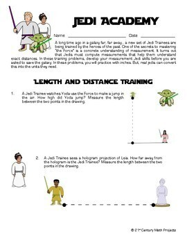 Jedi Academy: Measurement -- Star Wars Trigonometry - 21st Century Math Project