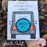 Jeep Speech Therapy Craft (articulation language) Craftivity