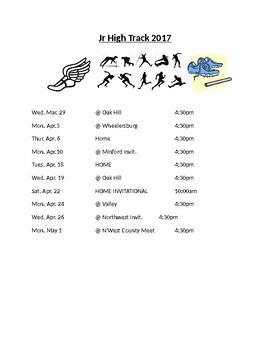 Jeeps Track Schedule