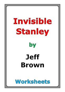 """Jeff Brown """"Invisible Stanley"""" worksheets"""