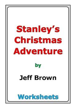 """Jeff Brown """"Stanley's Christmas Adventure"""" worksheets"""