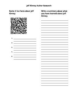 Jeff Kinney QR code Research