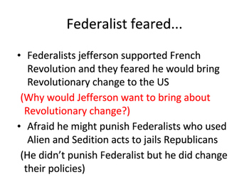 Jefferson: A Republican Takes Office