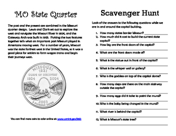 Jefferson City Capitol Scavenger Hunt
